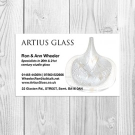 Artius Glass Business Card