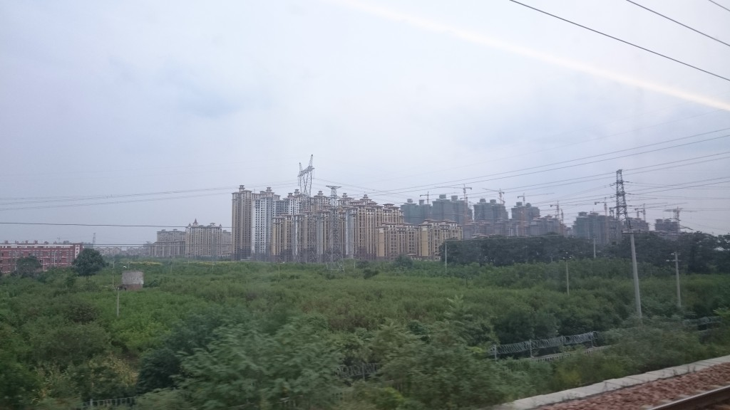 Travelling on the bullet train from Beijing to Xi'an