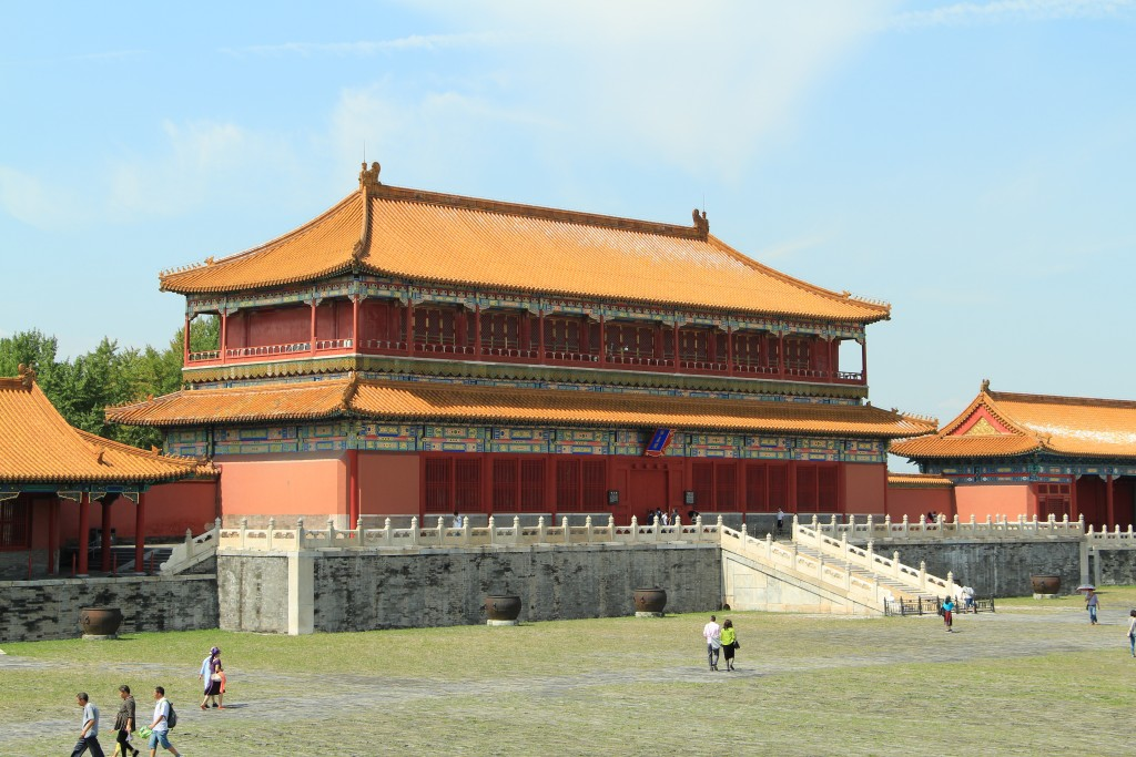 One of the large palace buildings in The Forbidden Palace, Beijing, China