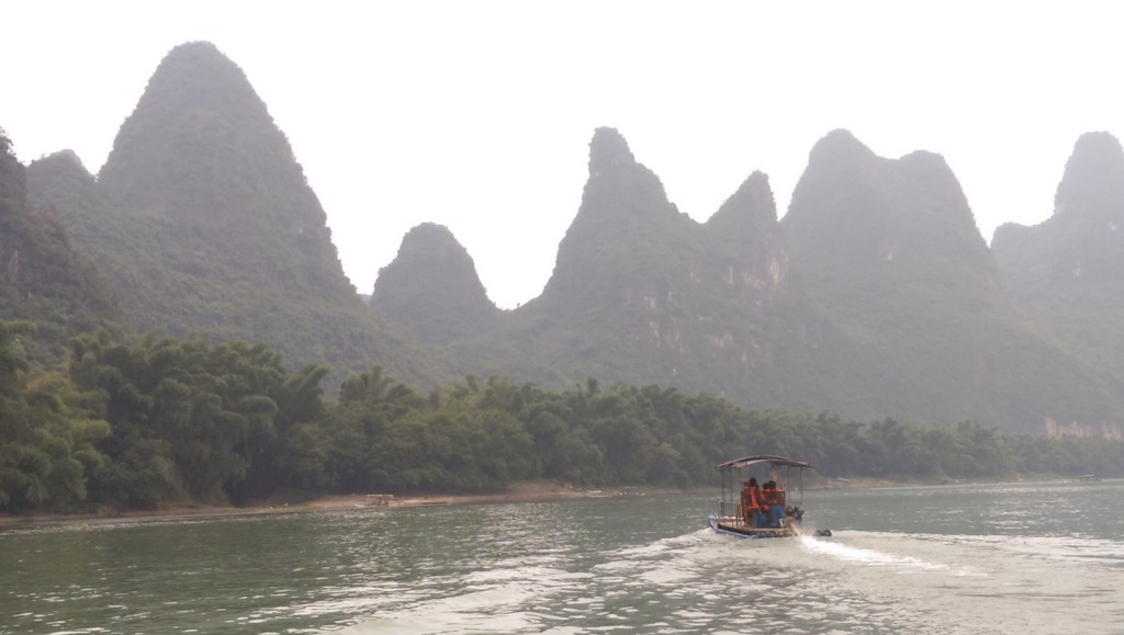 On our boat trip down the Li River