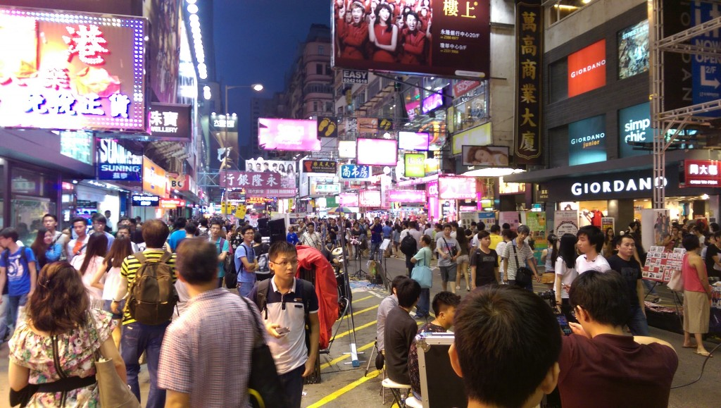 The crowds on Nathan Road
