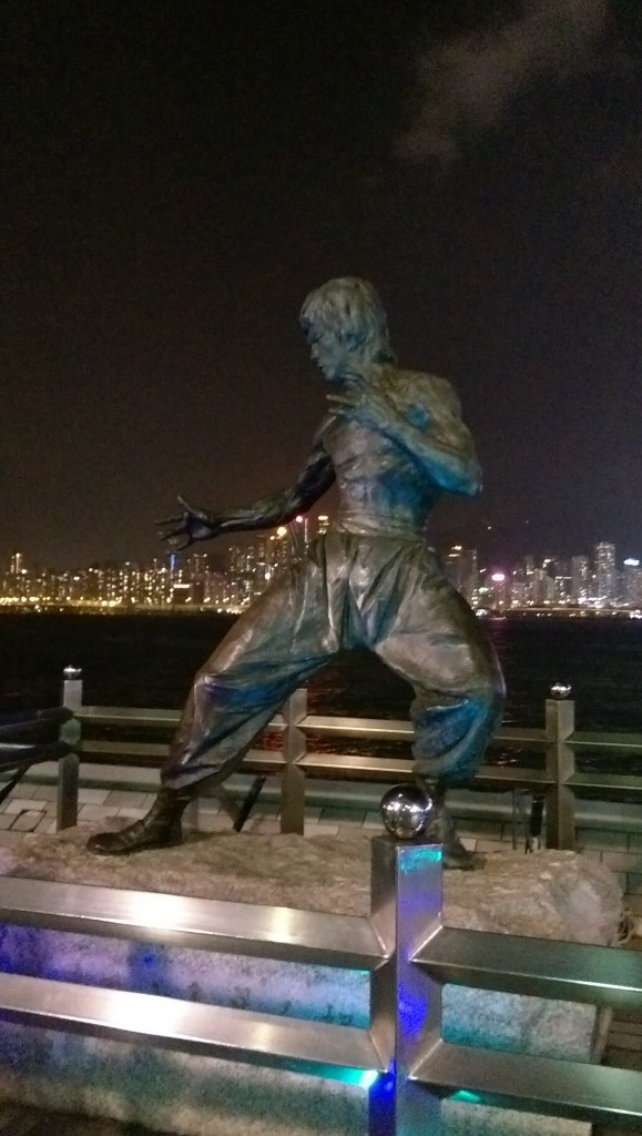 Bruce Lee statue on the Avenue of the Stars, Hong Kong