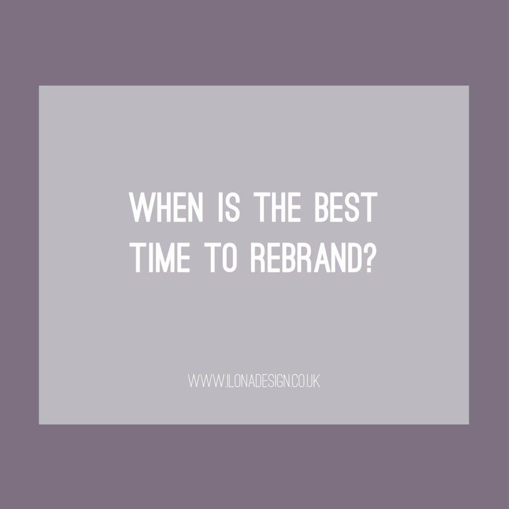 When is the best time to rebrand
