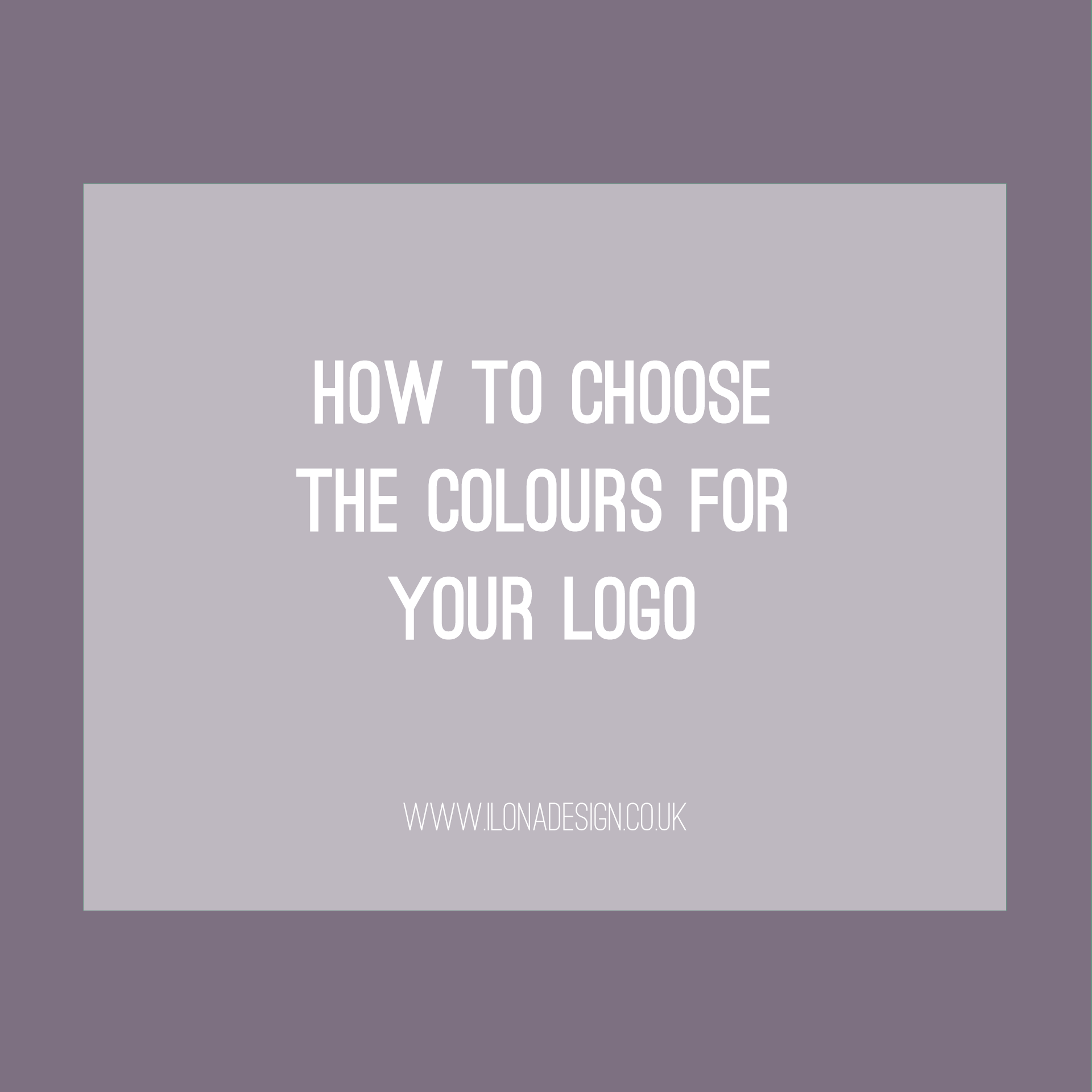 How to Choose the Right Colours for Your Logo [VIDEO]
