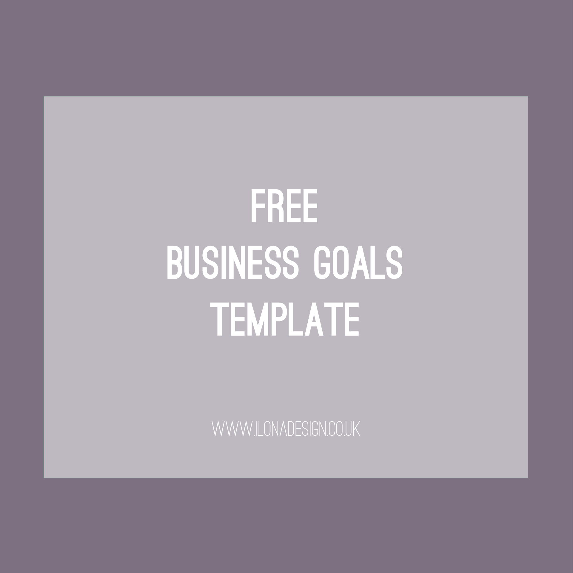 Free Business Goals Template